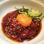 焼肉木曽 - 桜ユッケ