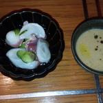 64964710 - スープと酢の物
