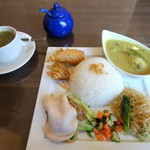 チンタジャワカフェ - 料理写真:ナシチャンプルプレート