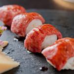 華ぱやん - 煮切醤油の手まり寿司