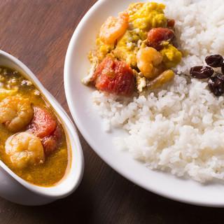 インド式カレー 夢民 - 料理写真:エビトマトエッグカレー