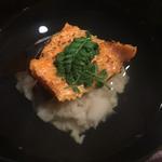 64970378 - お椀 : 帆立真薯、生きくらげ、焼きばちこ