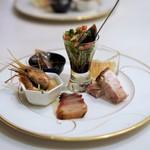 GINZA芳園 - 広東式焼物入り前菜盛り合わせ