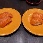 回転寿司六鮮 新世界店 - サーモン