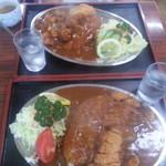 坂本食堂 - 料理写真:上が小盛、下が普通盛り。