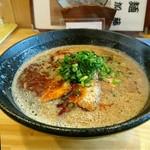 ラーメン加藤 - 濃厚旨辛味噌豚骨ラーメン(自家製辛味油)[¥900]