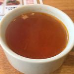 和酒BAR DAISHIN - ミネストローネ風のスープはお代わり自由