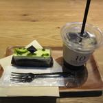 64983291 - ガトーピスタシュフレーズ 690円 + アイスコーヒー 300円