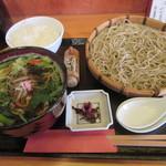 料理人 江川 - 「白魚と菜の花のつけそば」一式