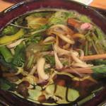 料理人 江川 - 具だくさんのつけ汁