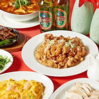 豊富な本格中華料理