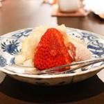 二条城ふる田 - ゆうべに苺と苺アイス