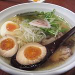 64990684 - 七福ラーメン(弐)豚¥750 +煮卵トッピング¥70