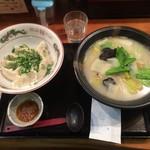 64992323 - 白菜ラーメン+ネギみそ水餃子 ¥980