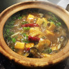 牡蠣と豆腐の土鍋煮込み