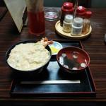 橋詰屋食堂 - 料理写真:卵かけ天丼
