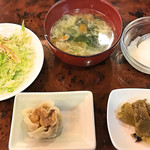 氷花餃子 - 定食のセット