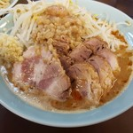 65003601 - 201704中つけ麺(麺量450g) 肉マシ@1050 つけ汁・具