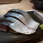 意気な寿し処阿部 - ☆アテな鯖は山葵たっぷりです(^o^)丿☆