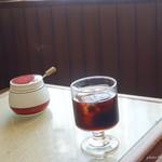 水茶都 - 2017年2月 ランチタイムカレーセットのアイスコーヒー