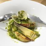 モード カフェ ギャマン - 菜の花と蛤のスープ仕立て