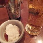 中なか - 料理写真:突き出しとノンアルのビール