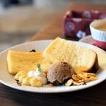 一会 カフェ - 料理写真:シフォンケーキセット