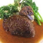 a bientot - 蝦夷鹿肉と自家製梅酒のソース