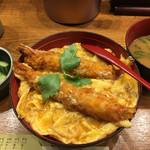 65020625 - 海老玉子とじ丼(¥950)