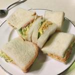 珈琲エーデルワイス - サンドイッチのハーフ