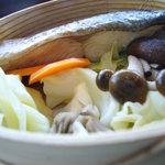 6503178 - 鮭とキノコ(しめじ、舞茸)のせいろ蒸