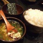 焼肉亭 - ごはんセット(ごはん・スープ・韓国海苔)