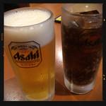 中華料理居酒屋 天府 - 生ビール&コーラ
