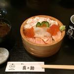 65039369 - 北海ちらしセット赤出汁付き¥1,296