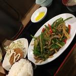 65039689 - 青椒肉絲定食!