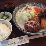 しばがき - 料理写真:てりやきメンチカツとヒレカツのランチ1280円