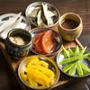 三船 人形町 - 料理写真:季節野菜を楽しむ【三船の野菜盆】