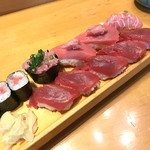 板前寿司 - 板前得まぐろにぎりセット
