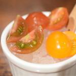 福皆来 - 食後のプチトマト。これが、とても美味しい。