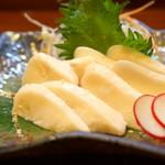 郷土料理 武田 - 【船上一本〆鮭の白子ルイベ】