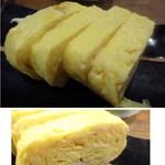 Kaine - ◆玉子焼き(ハーフ:250円:外税)・・お味は薄めですが出来立ての玉子焼きは美味しいですね。 マヨネーズが添えられていましたので、薄味なのかもしれません。
