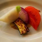 65049144 - 季節野菜のアンチョビソース