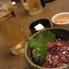 だんまや水産 - 料理写真:まるで梅酒なノンアルコール¥292とお通し¥330とホタルイカの沖漬け¥324