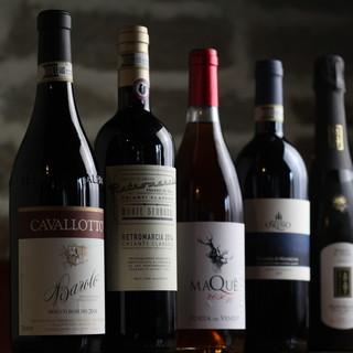 ワイン通の店長レコメンド!個性豊かなイタリアワインをご用意◎