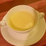 TEPPAN DINING KAMIYA - ランチ コーンスープ