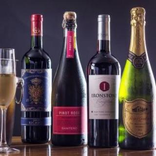 種類豊富なワインでイタリアンを堪能。ノンアルコールも充実!