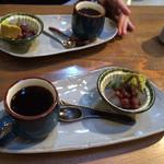 カフェギャラリー柚 - ランチの甘味、コーヒー