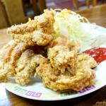 大福軒 - 2017年2月 鶏の天ぷら【800円】一般的には唐揚げでよろしいかと。