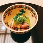 65059223 - 富山のホタルイカ、こごみ、菜の花などの春野菜