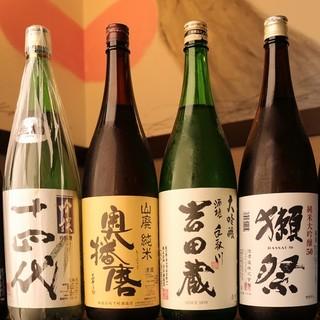 【日本酒へのこだわり】幅広い種類を取り揃えております。